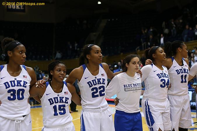 DWHoops Photo  - Duke Tags: #30 Amber Henson, #22 Oderah Chidom, #34 Lyne� Belton, #3 Angela Salvadores, #15 Kyra Lambert