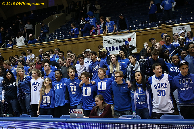 Thanks, students!  I hope we will see you en masse again before next year.  - Duke Tags: Fans