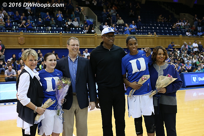 Senior Day  - Duke Tags: #12 Mercedes Riggs, #30 Amber Henson