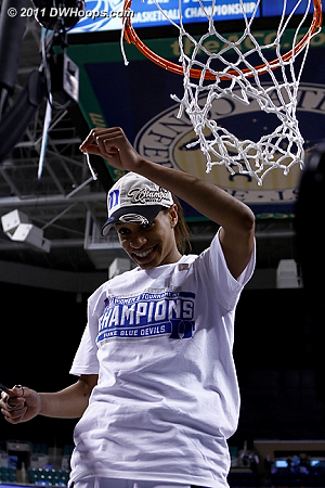 A very modest piece of the net for a two-time tournament MVP  - Duke Tags: #5 Jasmine Thomas