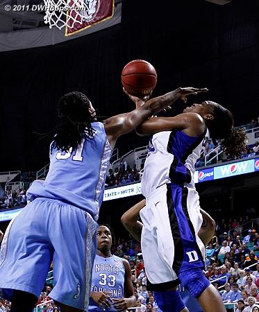 DWHoops Photo  - Duke Tags: #13 Karima Christmas - UNC Players: #51 Jessica Breland