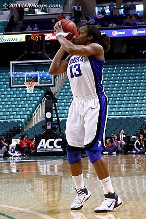Missed three was Duke's first shot