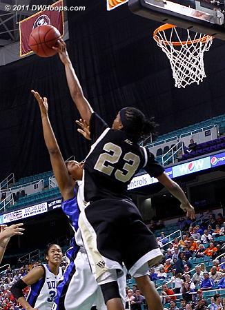 Ray rejects Jackson  - Duke Tags: #15 Richa Jackson - WF Players: #23 Secily Ray