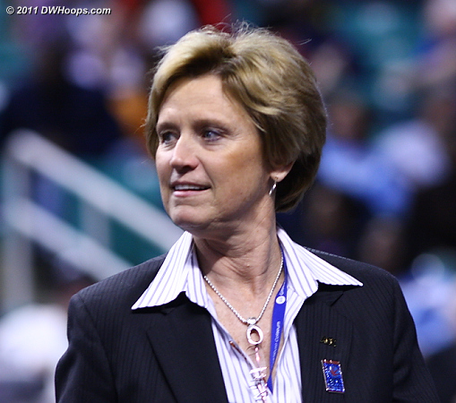ACC Associate Commissioner of Women's Basketball Nora Lynn Finch running another great tournament -- she and her staff have anticipated every detail