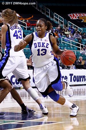 Going to the hoop again  - Duke Tags: #13 Karima Christmas