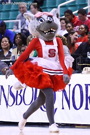 NC State mascot Ms. Wuf