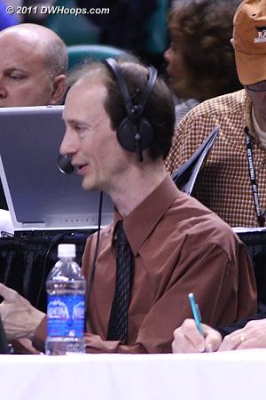 NC State radio broadcaster Patrick Kinas