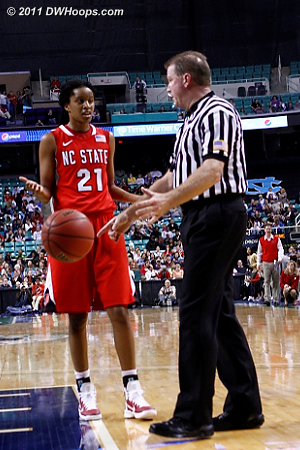 No board, it was a foul  - NCSU Players: #21 Brittany Strachan