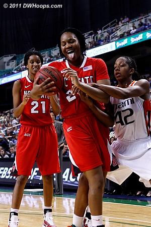 Blah!  - NCSU Players: #22 Bonae Holston - MIA Tags: #42 Shenise Johnson