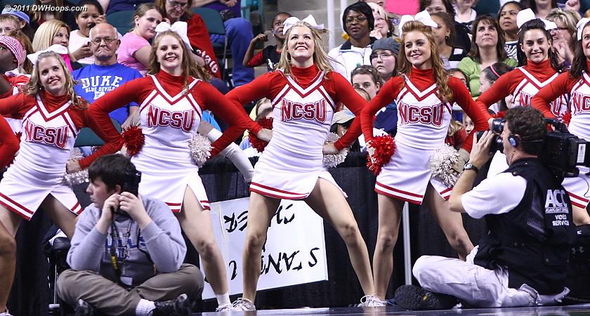 NC State cheerleaders
