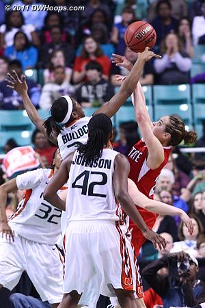 DWHoops Photo  - NCSU Players: #23 Marissa Kastanek - MIA Tags: #34 Sylvia Bullock
