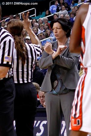 Katie Meier wants intentional for an off-ball foul