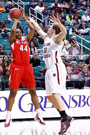DWHoops Photo  - BC Players: #32 Stefanie Murphy - NCSU Tags: #44 Kody Burke