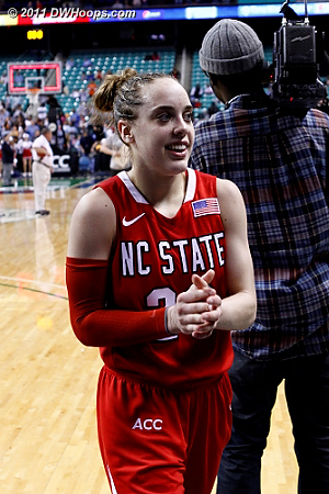 Leaving the floor in Greensboro a winner again  - NCSU Players: #23 Marissa Kastanek