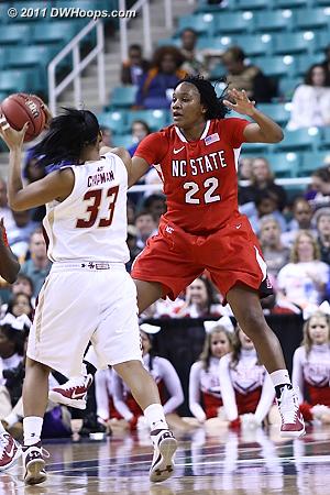 DWHoops Photo  - BC Players: #33 Korina Chapman - NCSU Tags: #22 Bonae Holston