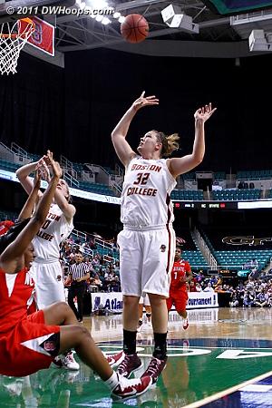 Burke flops, no foul  - BC Players: #32 Stefanie Murphy - NCSU Tags: #44 Kody Burke