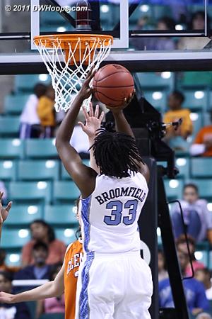 Broomfield hits  - UNC Players: #33 Laura Broomfield