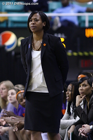 Clemson coach Itoro Coleman is working to rebuild the Tigers program after a long series of down years.