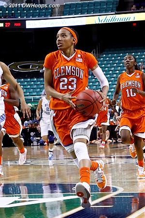 Clemson fast break  - CLEM Players: #23 Chancie Dunn