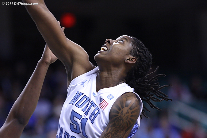 The endurance of ACC Comeback Player of the Year Jessica Breland may determine  Carolina's postseason success.