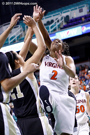 DWHoops Photo  - UVA Players: #2 Whitny Edwards - WF Tags: #21 Sandra Garcia