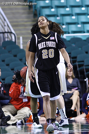 Wave off that last one - Wake can't believe it!  - WF Players: #20 Brittany Waters