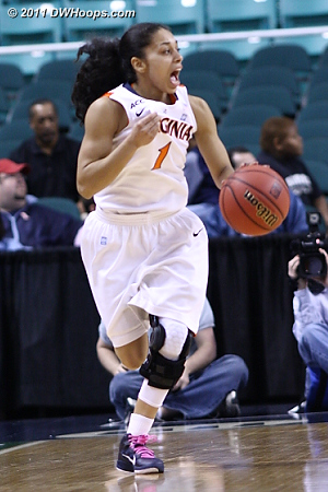 Running the fast break  - UVA Players: #1 China Crosby