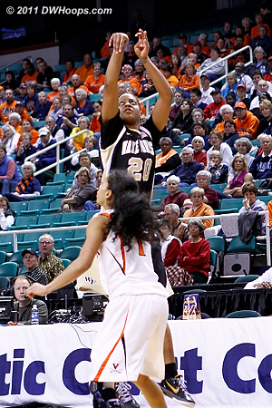 Here's where Wake tied it up at 37-all  - WF Players: #20 Brittany Waters