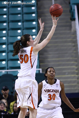 DWHoops Photo  - UVA Players: #30 Telia McCall, #50 Chelsea Shine