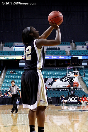 Wake kept taking advantage of wide open looks, shooting 60% in the second half  - WF Players: #22 Lakevia Boykin
