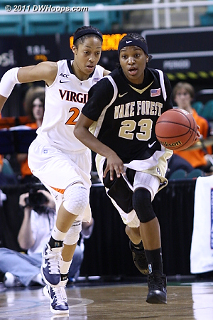 DWHoops Photo  - UVA Players: #23 Ataira Franklin - WF Tags: #23 Secily Ray