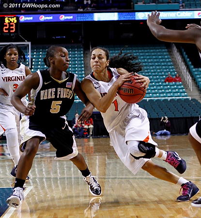 DWHoops Photo  - UVA Players: #1 China Crosby - WF Tags: #5 Chelsea Douglas