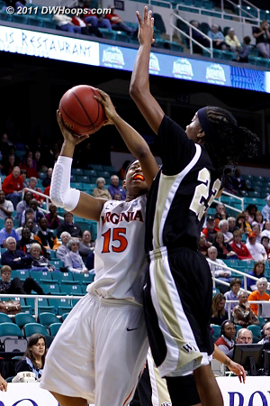 DWHoops Photo  - UVA Players: #15 Ariana Moorer - WF Tags: #23 Secily Ray