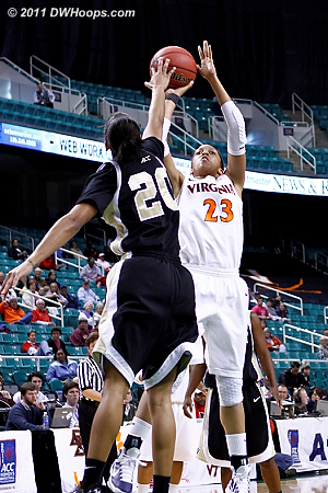 DWHoops Photo  - UVA Players: #23 Ataira Franklin - WF Tags: #20 Brittany Waters