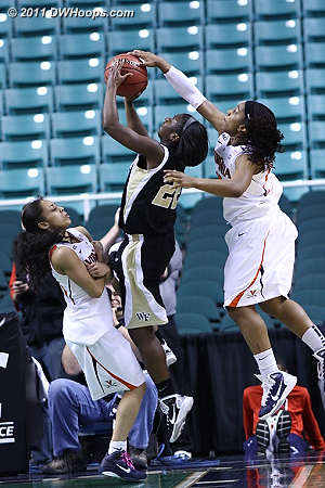 Great block!  - UVA Players: #30 Telia McCall - WF Tags: #22 Lakevia Boykin