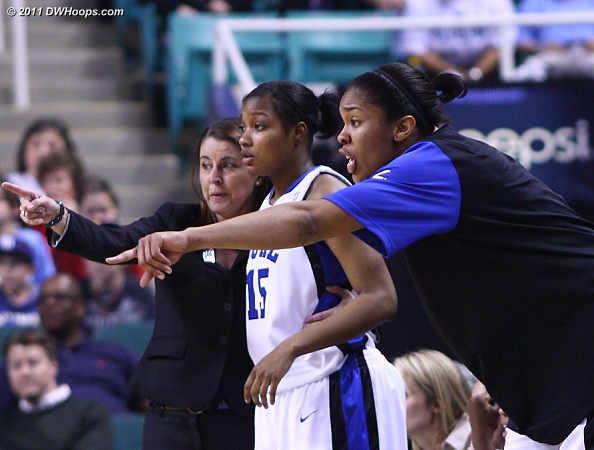 DWHoops Photo  - Duke Tags: #15 Richa Jackson, #34 Krystal Thomas, Joanne P. McCallie