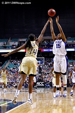 After some coaching Richa hits a big bucket, Duke up 13  - Duke Tags: #15 Richa Jackson - GT Players: #14 LaQuananisha Adams