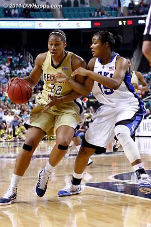 DWHoops Photo  - Duke Tags: #15 Richa Jackson - GT Players: #22 Alex Montgomery