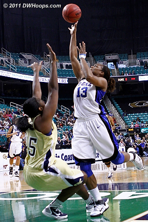 Charge  - Duke Tags: #13 Karima Christmas - GT Players: #5 Metra Walthour