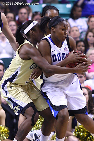 DWHoops Photo  - Duke Tags: #12 Chelsea Gray - GT Players: #15 Tyaunna Marshall