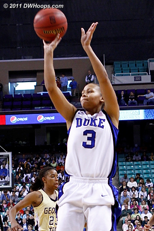 Duke's first bucket  - Duke Tags: #3 Shay Selby