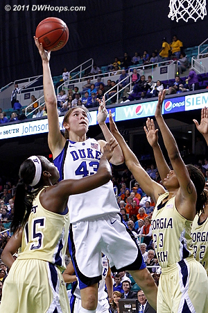 DWHoops Photo  - Duke Tags: #43 Allison Vernerey