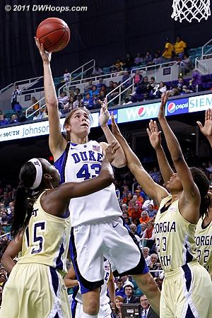 DWHoops Photo  - Duke Tags: #43 Allison Vernerey