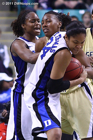 Krystal forces a tieup  - Duke Tags: #13 Karima Christmas, #34 Krystal Thomas