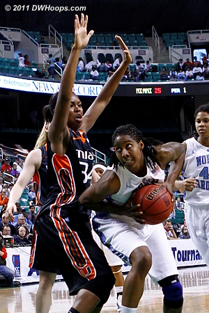 Breland was unstoppable inside  - UNC Players: #51 Jessica Breland - MIA Tags: #34 Sylvia Bullock
