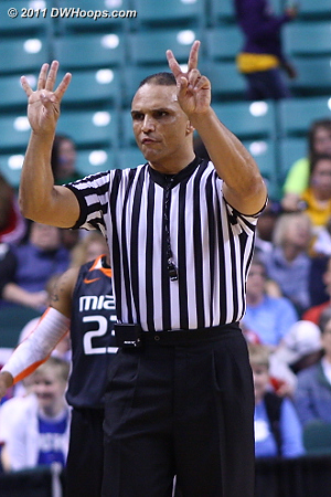 Foul on Shenise Johnson called by Billy Smith