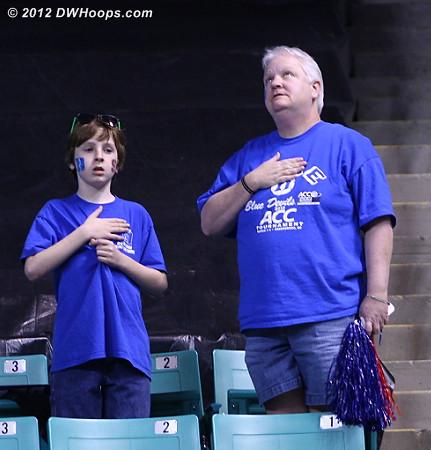 National Anthem  - Duke Tags: Fans