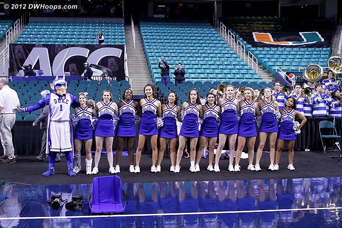 DWHoops Photo  - Duke Tags: Duke Cheerleaders, Duke Pep Band