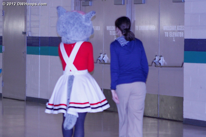 DWHoops Photo  - NCSU Players: Mascot Ms. Wuf