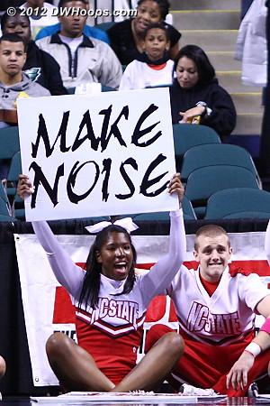 DWHoops Photo  - NCSU Players:  NCSU Cheerleaders